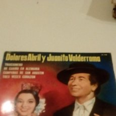 Discos de vinilo: BAL-6 DISCO 7 PULGADAS DOLORES ABRIL JUANITO VALDERRAMA TRAICIONERO . Lote 133679370
