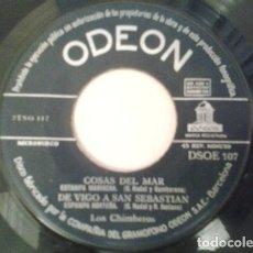 Discos de vinilo: LOS CHIMBEROS – TENGO UNA NOVIA EN SANTURCE / ¡AY, ABELARDO! / COSAS DEL MAR / DE VIGO A SAN SEBAST. Lote 133679826