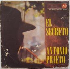 Discos de vinilo: SINGLE - ANTONIO PRIETO - EL SECRETO / RETRATO - RCA 45N 1209. Lote 133682046