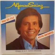 Discos de vinilo: SINGLE - ALFONSO SAINZ - PARA SER FELIZ / NUEVOS HORIZONTES - MOVIEPLAY 02.3546/2 -1983. Lote 133682470