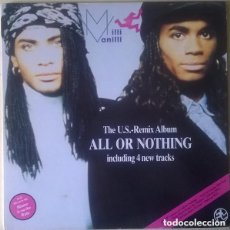 Discos de vinilo: MILLI VANILLI – ALL OR NOTHING - THE U.S. REMIX ALBUM - LP SPAIN 1989. Lote 133683478