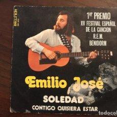 Discos de vinilo: EMILIO JOSÉ ?– SOLEDAD / CONTIGO QUISIERA ESTAR SELLO: BELTER ?– 08-303 FORMATO: VINYL, 7 . Lote 133688438