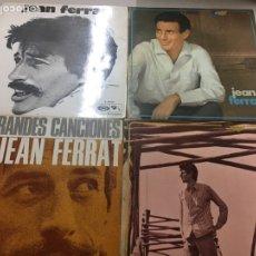 Discos de vinilo: JEAN FERRAT LOTE 4 LP. Lote 133701155