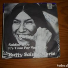 Discos de vinilo: BUFFY SAINTE-MARIE. SOLDIER BLUE / UNTIL IT´S TIME FOR YOU TO GO. VANGUARD, 1970. IMPECABLE. Lote 133703906