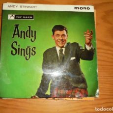 Discos de vinilo: ANDY STEWART. ANDY SINGS. 5 CANCIONES. EP. TOP RANK, 1961. EDC. INGLESA. IMPECABLE. Lote 133706158