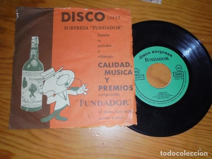 SARDANAS. COBLA MONTSENY. EP. DISCO SORPRESA FUNDADOR. 1962 (Música - Discos de Vinilo - EPs - Country y Folk)