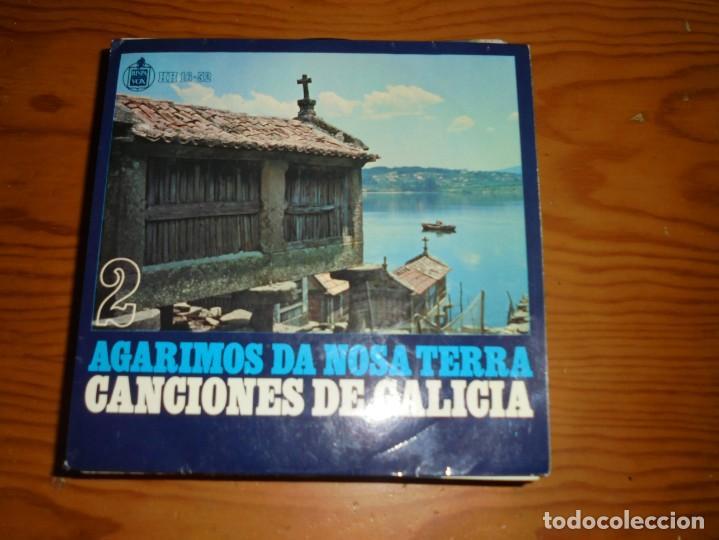 CANCIONES DE GALICIA. AGARIMOS DA NOSA TERRA. EP. VOL. 2. HISPAVOX, 1959. (Música - Discos de Vinilo - EPs - Country y Folk)