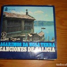 Discos de vinilo: CANCIONES DE GALICIA. AGARIMOS DA NOSA TERRA. EP. VOL. 2. HISPAVOX, 1959.. Lote 133707586