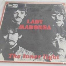 Discos de vinilo: ANTIGUO DEISCO DE LOS BEATLES LADY MADONNA VERSION AZUL CLARO. Lote 133722854
