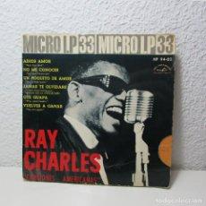 Discos de vinilo: SINGLE VINILO RAY CHARLES MICRO LP 33 CANCIONES AMERICANAS 1962. Lote 133725594