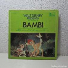 Discos de vinilo: SINGLE VINILO BAMBI CANCIONES CASTELLANO MIRA ESCUCHA LEE WALT DISNEY 1966. Lote 133732238