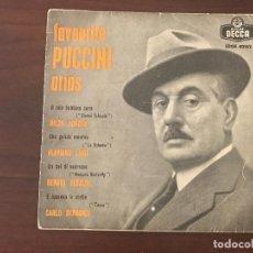 Discos de vinilo: FAVOURITE PUCCINI ARIAS SELLO: DECCA ?– SDGE 80182 FORMATO: VINYL, 7 45 RPM, EP PAÍS: SPAIN FECHA. Lote 133733458