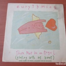 Discos de vinilo: EURYTHMICS THERE MUST BE AN ANGEL/ GROWN UP GIRLS RCA 1985 PROMO. Lote 133734574