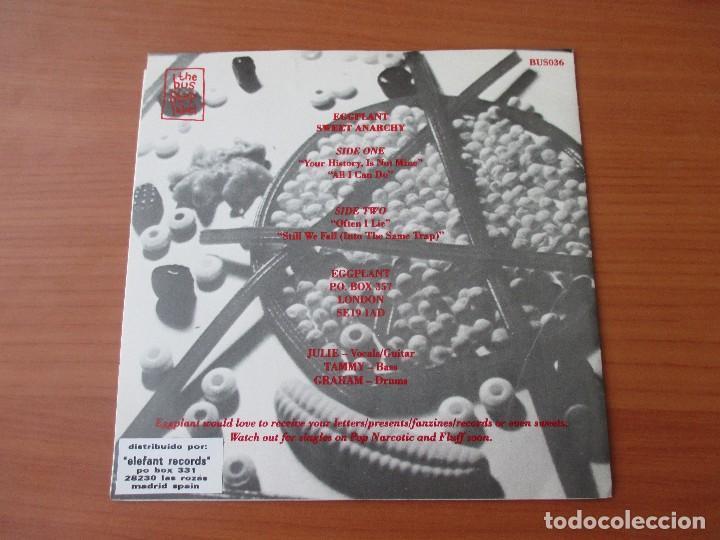 Discos de vinilo: EGGPLANT SWEET ANARCHY YOUR HISTORY, IS NOT MINE +3 THE BUS STOP LABEL 1993 MUY BUEN ESTADO INDIE - Foto 2 - 133735334
