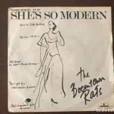 Discos de vinilo: THE BOOMTOWN RATS ?– SHE'S SO MODERN SELLO: MERCURY ?– 6008521GT.01 FORMATO: VINYL, 7 , 45 RPM, SING. Lote 133736942