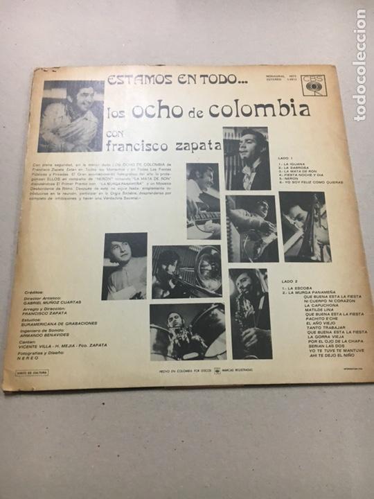 Discos de vinilo: Los Ocho De Colombia con Francisco zapata - Foto 2 - 133740135