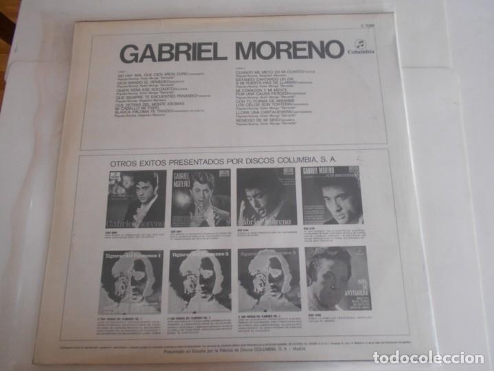 Discos de vinilo: GABRIEL MORENO-LP 1970 - Foto 2 - 133747758