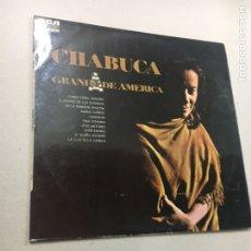 Discos de vinilo: CHABUCA GRANDE DE AMERICA. Lote 133755434
