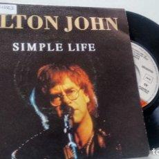 Discos de vinilo: SINGLE (VINILO)-PROMOCION- DE ELTON JOHN AÑOS 80. Lote 133760010
