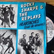 Discos de vinilo: SINGLE (VINILO) DE ROCKY SHARPE & THE REPLAYS AÑOS 80. Lote 133760226