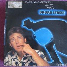 Discos de vinilo: LP - PAUL MCCARTNEY - BROAD STREET (PROMOCIONAL ESPAÑOL, EMI ODEON 1984, PORTADA DOBLE). Lote 133761054