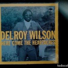 Discos de vinilo: DELROY WILSON-HERE COME THE HEARTACHES. Lote 133762630