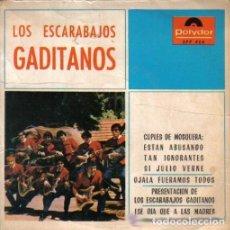 Discos de vinilo: LOS ESCARABAJOS GADITANOS – CUPLÉS DE MOSQUERA / OJALÁ FUERAMOS TODOS / PRESENTACIÓN DE LOS ESCARAB. Lote 133767314