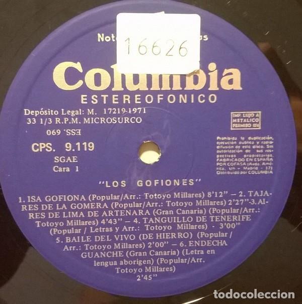 Discos de vinilo: Los Gofiones – Los Gofiones (España, 1971) - Foto 3 - 133768498