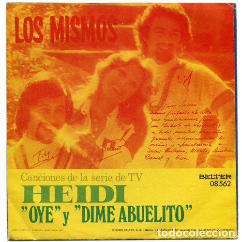 Discos de vinilo: Los Mismos – El Gran Éxito De TV Heidi Cantado En Español (España, 1975) - Foto 2 - 133769390