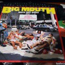 Discos de vinilo: BIG MOUTH LP QUITE NOT RIGHT 1988. Lote 133769426