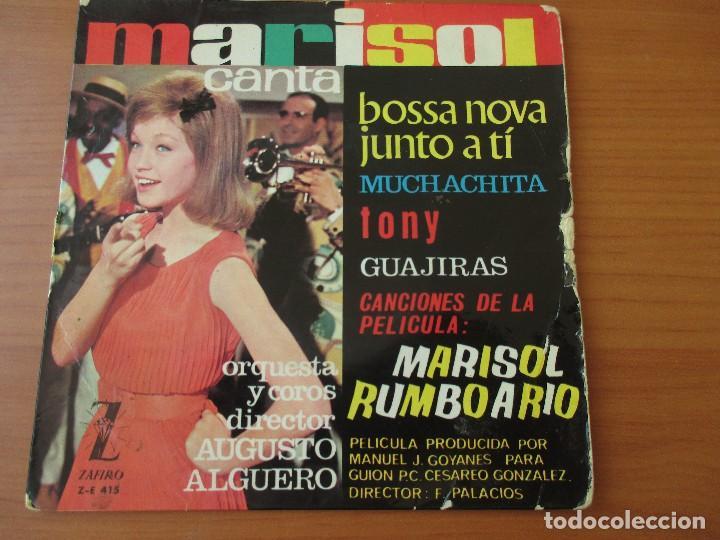 MARISOL BOSSA NOVA JUNTO A TI +3 MARISOL RUMBO A RIO ZAFIRO 1963 (Música - Discos de Vinilo - EPs - Solistas Españoles de los 50 y 60)