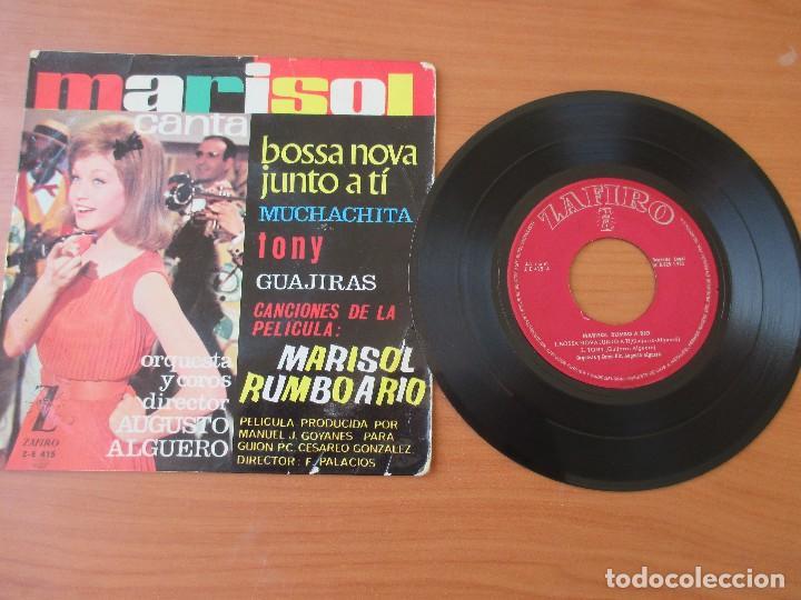 Discos de vinilo: MARISOL BOSSA NOVA JUNTO A TI +3 MARISOL RUMBO A RIO ZAFIRO 1963 - Foto 3 - 133770018