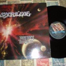 Discos de vinilo: SACRILEGE - TURN BACK TRILOBITE DOBLE CARPETA -TAKE OF MUSIC 1989 ORIGINAL FRANCIA. Lote 133771086