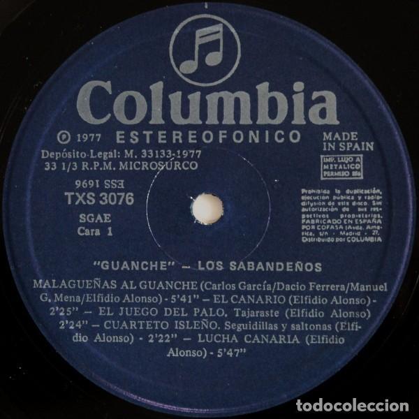 Discos de vinilo: Los Sabandeños – Guanche (España, 1977) - Foto 6 - 133771406