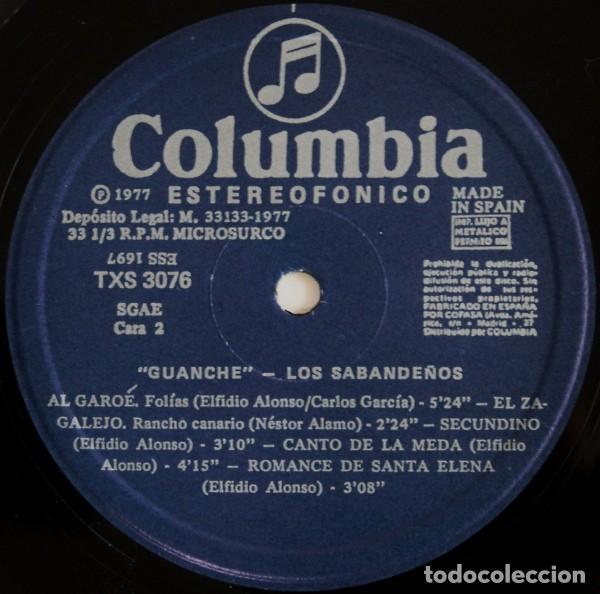 Discos de vinilo: Los Sabandeños – Guanche (España, 1977) - Foto 7 - 133771406