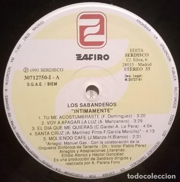 Discos de vinilo: Los Sabandeños – Intimamente (España, 1991. 2 × Vinyl, LP, Album) - Foto 3 - 133771562