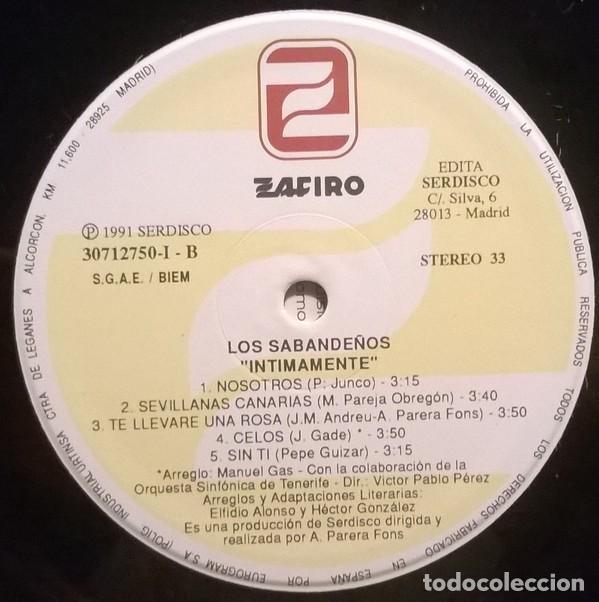 Discos de vinilo: Los Sabandeños – Intimamente (España, 1991. 2 × Vinyl, LP, Album) - Foto 4 - 133771562
