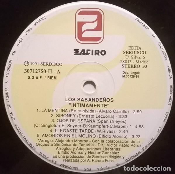 Discos de vinilo: Los Sabandeños – Intimamente (España, 1991. 2 × Vinyl, LP, Album) - Foto 5 - 133771562