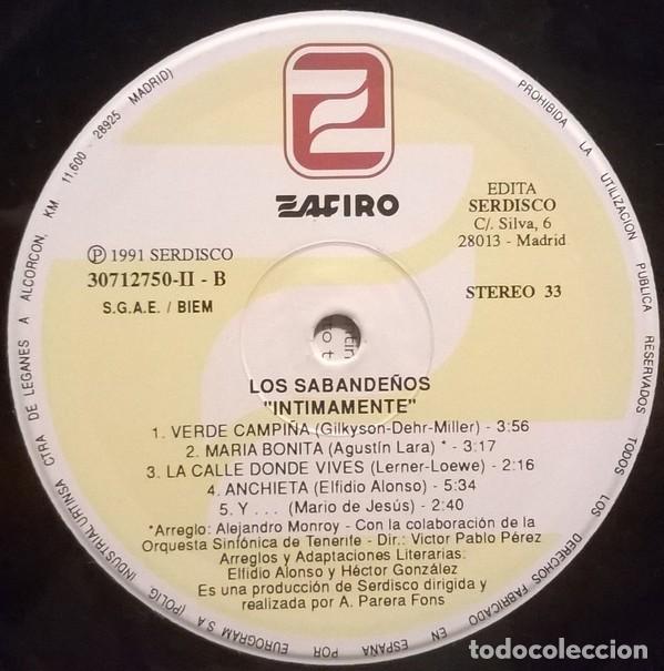 Discos de vinilo: Los Sabandeños – Intimamente (España, 1991. 2 × Vinyl, LP, Album) - Foto 6 - 133771562