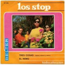 Discos de vinilo: LOS STOP – TRES COSAS (SALUD, DINERO Y AMOR) / EL REMO (ESPAÑA, 1967). Lote 133773370
