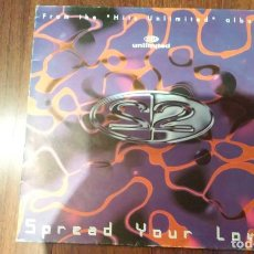 Discos de vinilo: 2 UNLIMITED-SPREAD YOUR LOVE.MAXI ESPAÑA. Lote 133775650