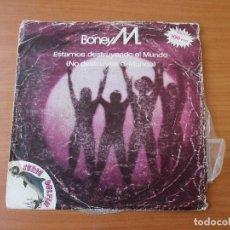 Discos de vinilo: BONEY M ESTAMOS DESTRUYENDO EL MUNDO/ BOONOONOONOOS ARIOLA 1981. Lote 133777930