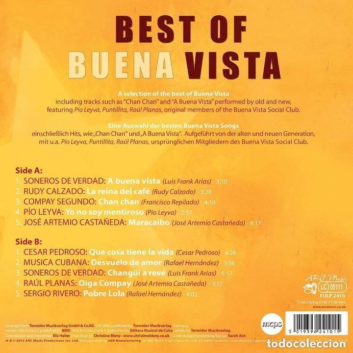 Discos de vinilo: BEST OF BUENA VISTA * LP 180g * Miembros originales de Buena vista Social Club * Precintado - Foto 2 - 133778298