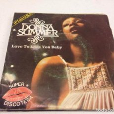 Discos de vinilo: DONNA SUMMER - LOVE TO LOVE YOU BABY . Lote 133780502
