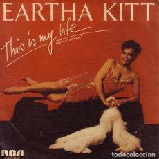 Discos de vinilo: EARTHA KITT - THIS IS MY LIFE = ESTA ES MI VIDA - SINGLE PROMO SPAIN 1986. Lote 133780674