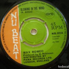 Discos de vinilo: LARRY MARSHALL / MAX ROMEO - MONEY GIRL+1 -SG UK NU BEAT 1969 // SKINHEAD REGGAE PAMA SKA ROCKSTEADY. Lote 133780830