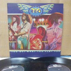 Discos de vinilo: REO SPEEDWAGON - YOU GET WHAT YOU PLAY 2XLP 1977 ND GATEFOLD. Lote 133781145