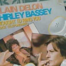 Discos de vinilo: SINGLE (VINILO) DE SHIRLEY BASSE & ALAIN DELON AÑOS 80. Lote 133789542