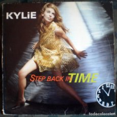 Discos de vinilo: KYLIE MINOGUE – STEP BACK IN TIME MAXI-SINGLE 1990 . Lote 133791758
