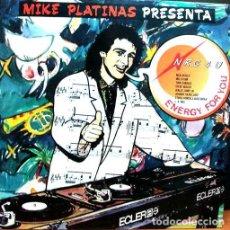 Discos de vinilo: MIKE PLATINAS - MIKE PLATINAS PRESENTA NRG 4 U - DOBLE LP SPAIN 1988. Lote 133796218